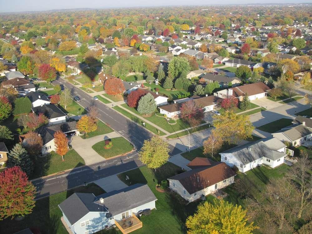 A neighborhood in Tumwater, WA during fall