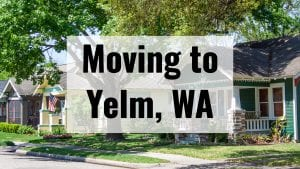 homes along a tree-lined street in Yelm, WA