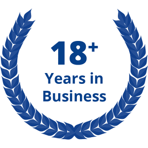 18+ years in business