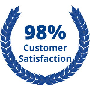 98% customer satisfaction