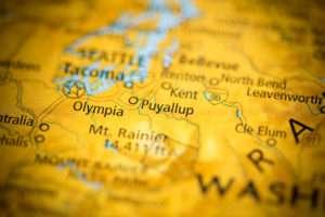 Map of Puyallup - South Hill WA on map